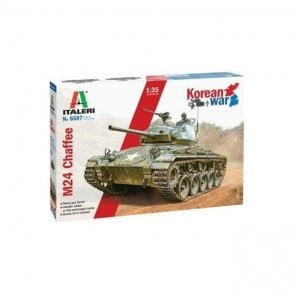 "Italeri 1:35 M24 ""Chaffee""  Korean War Military Model Kit"