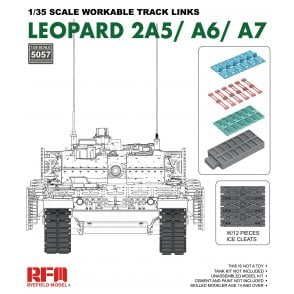 Rye Field Model 1:35 Workable track links for LEOPARD 2A5/A6/A7 Military Model Kit
