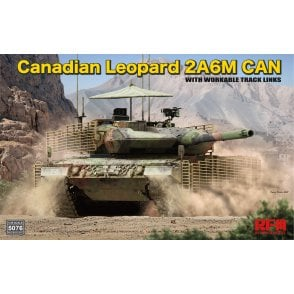 Rye Field Model 1:35 Canadian LEOPARD 2A6M CAN with workable track links Military Model Kit