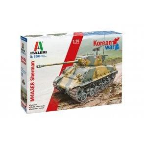 Italeri 1:35 M4A3E8 Sherman Korean War Military Model Kit
