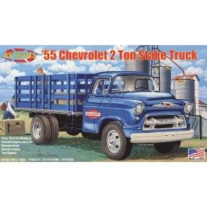 Atlantis Models 1:48 1955 Chevy 2 Ton Stake Truck Model Kit