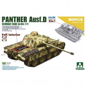 Takom 1:35 Sd.Kfz.171  Panther Ausf D Early/Mid w/full interior 2 in 1 Model Military Kit