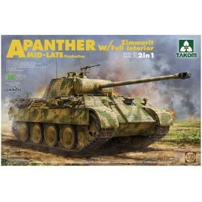 Takom 1:35 Panther Ausf.A mid / late full Interior, Zimmerit Model Military Kit