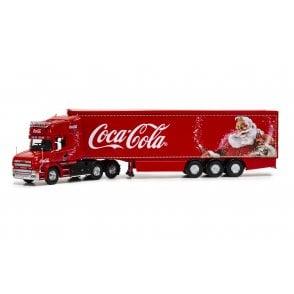 Corgi 1:50 Scania T-Cab Box Trailer - Coca-Cola Christmas Truck
