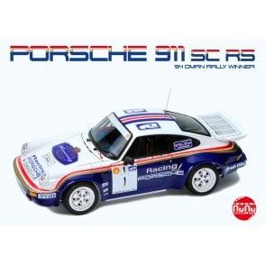NUNU 1:24 PORSCHE 911 SC/RS Rally Oman 1984 Car Model Kit