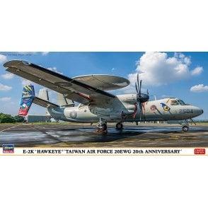 Hasegawa 1:72 E-2K Hawkeye Taiwan Air Force 20 EWG 20th Anniversary Aircraft Model Kit