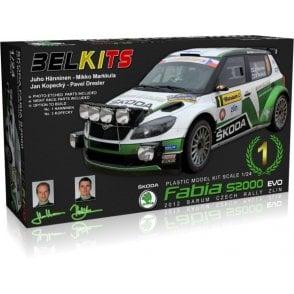 Belkits 1:24 SKODA Fabia S2000 EVO 2012 Barum Czech Rally ZLIN Car Model Kit