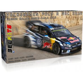 Belkits 1:24 VW Polo R WRC Winner Rallye Monte Carlo 2016 Car Model Kit