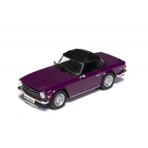 Corgi Vanguards 1:43 Triumph TR6 Magenta Model Car (New Tooling)