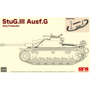 Rye Field Model 1:35 StuG. III Ausf. G Early Production with workable track links Military Model Kit