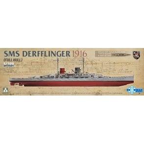 Takom 1:700 SMS Derfflinger 1916 (Full Hull) Model Ship Kit