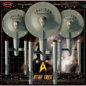 Polar Lights 1:350 Star Trek U.S.S. Enterprise With Pilot Edition Parts 3 in 1 Model Kit
