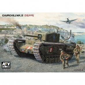 AFV Club 1:35 Churchill Mk III Dieppe Raid British Infantry Tank Military Model Kit