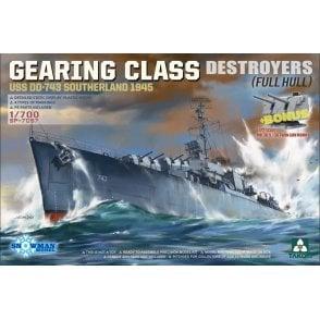 Takom 1:700 Gearing Class Destroyer - Southerland USS DD-743 Model Ship Kit
