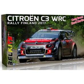 Belkits 1:24 Citroen C3 WRC - Rally Finland 2017 Car Model Kit