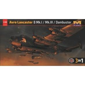 Hong Kong Models 1:32 Avro Lancaster B MkI/ B MkIII/ Dambuster 3 in 1 Aircraft Model Kit