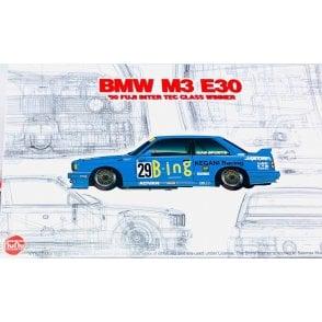 NUNU 1:24 BMW M3 E30 JTC  '1990 InterTEC class winner Car Model Kit