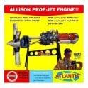 Atlantis Models 1:10 Allison Turbo Prop Engine Model Kit