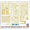 Rye Field Model 1:35 M4A3 76w hvss Sherman Korean war Military Model Kit