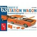 AMT 1:25 1963 Chevy II Station Wagon w/Trailer Car Model Kit