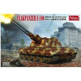 Amusing Hobby 1:35 8.8cm Flakzwilling Flakpanzer E-100 Military Model Kit
