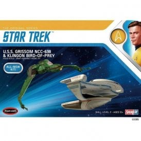 Polar Lights 1:1000 Star Trek U.S.S Grissom - Klingon Bird of Prey Twin Pack Model Kit