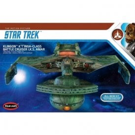 Polar Lights 1:350 Klingon K't'inga Class Battle Cruiser I.K.S Amar Star Trek Model Kit + Lighting Kit (MKA031)