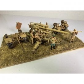Forces of Valor 1:32 German 88mm Flak 36/37 Anti-Aircraft Gun with Trailer - Deutsches Afrika Korps, El Alamein, North Africa, 1942