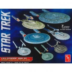 AMT 1:2500 Star Trek U.S.S. Enterprise Box Set – Snap kit - Includes 7 Kits !