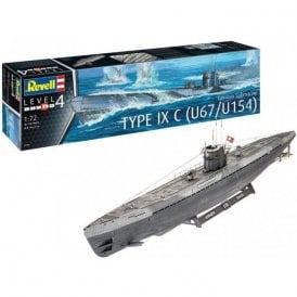 Revell 1:72 German Submarine Type IXc U67/U154 (early conning tower) Model Ship Kit