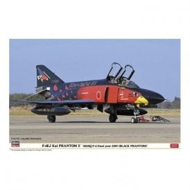 Hasegawa 1:48 F-4EJ Kai Phantom II '302Sqd F-4 Final Year 2019' Black Phantom Aircraft Model Kit