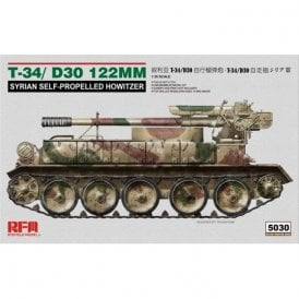 Rye Field Model 1:35 T-34/D-30 122Mm Syrian Self-Propelled Howitzer Military Model Kit