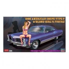 Hasegawa 1:24 1966 American Coupe Type P - Pontiac Bonneville with Blond Girl Figur Car Model Kit