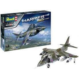 Revell 1:32 Gift Set Hawker Harrier GR Mk.1 50th Anniversary Aircraft Model Kit