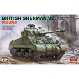 "Rye Field Model 1:35 British Sherman VC Firefly ""VELIKIYE LUKI"" & Workable Track Links Military Model Kit"