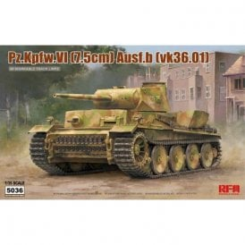Rye Field Model 1:35 (Damaged Boxes) Pz.KPFW.VI Ausf.B( VK36.01) & Workable Track Links Military Model Kit