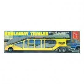 AMT 1:25 5 Car Haulaway Trailer Truck Kit (Truck & Cars not Included)