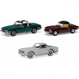 Corgi Vanguards 1:43 Sporting Triumph collection. Stag, Spitfire & TR6 Model Car (New Tooling)