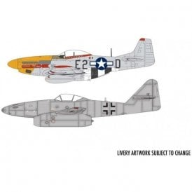 Airfix 1:72 Messerschmitt Me262 & P-51D Mustang Dogfight Double Model Kit
