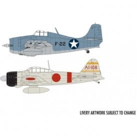 Airfix 1:72 Grumman F-4F4 Wildcat & Mitsubishi Zero Dogfight Double Model Kit