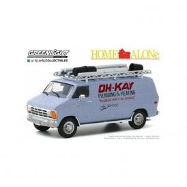 Greenlight 1:43 Home Alone (1990) - 1986 Dodge Ram Van OH-KAY Plumbing and Heating Diecast Car