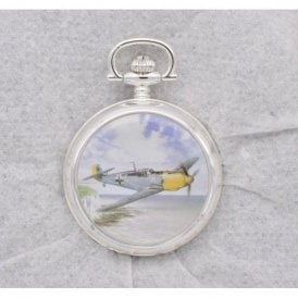 Atlas Editions Aces of the Air Pocket Watches - Clifftop Chase - Messerschmitt Me-109, Kent, September 1940