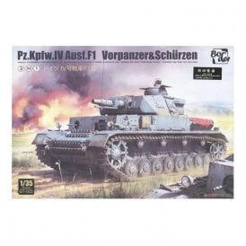 Border Models 1:35 Pz.Kpfw.IV Ausf.F1 Military Model Kit & Resin Figure