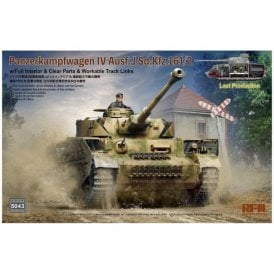 Rye Field Model 1:35 Pz.Kpfw.IV Ausf. J Last Production - Full Interior & Workable Track Links Military Model Kit