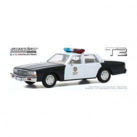 Greenlight 1:43 Terminator 2 Judgment Day (1991) - 1987 Chevrolet Caprice Metropolitan Police Diecast Car