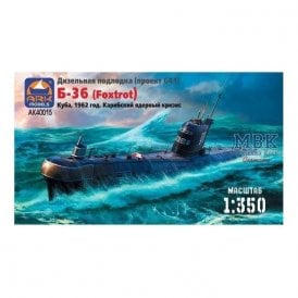 ARK Models 1:350 Submarine project 641 Cuban Crisis Ship Resin Kit