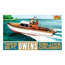Linberg 1:25 Owens Outboard Cruiser Boat Model Kit