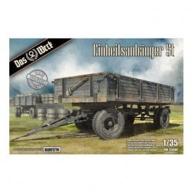 Das Werk 1:35 Einheitsanhanger 5t German Uniform 5t Trailer WW2 Military Model Kit