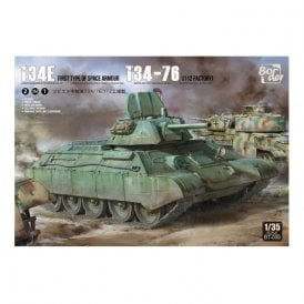 Border Models 1:35 T34/76 112 with Side Skirts & Working Tracks Military Model Kit - Limited Edition with Wooden box