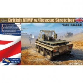 Gecko Models 1:35 British ATMP w Rescue Stretcher and Driver Figure Military Model Kit